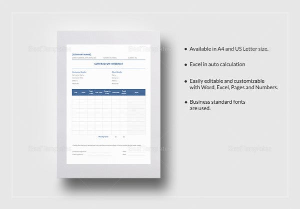 contractor-timesheet-template
