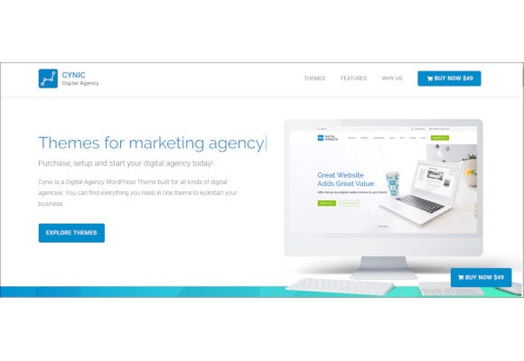 creative digital agency wordpress theme