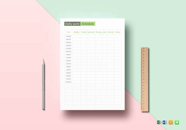 daily-work-schedule-template