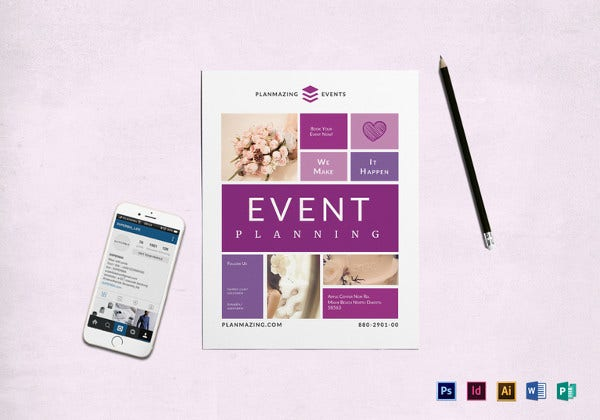 event planning flyer template
