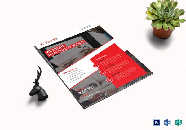 executive corporate flyer template