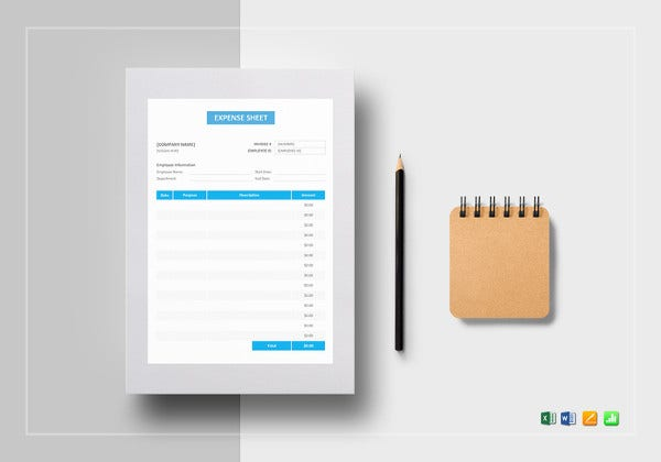 expense sheet template in ipages