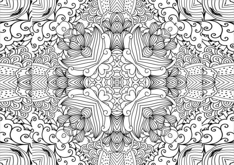 floral zentangle pattern 788x555