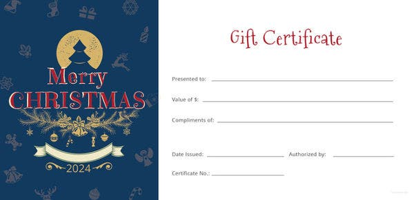 21 christmas gift certificate templates psd pages free