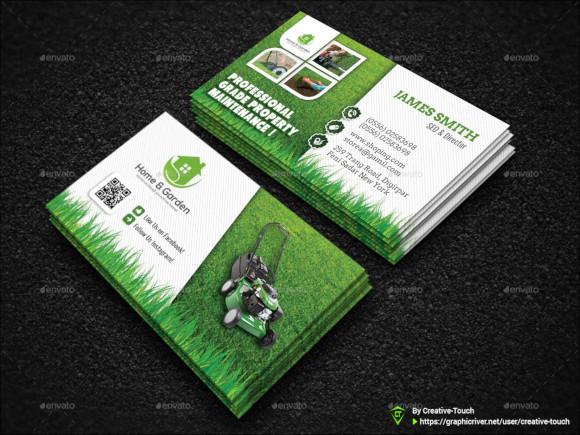 garden landscape business card template