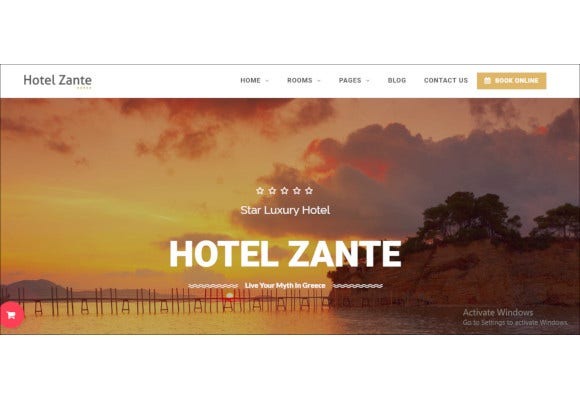 good looking hotel wordpress theme