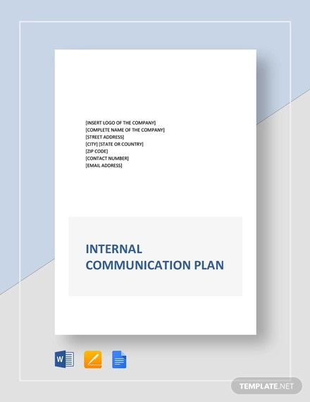 internal communication plan template