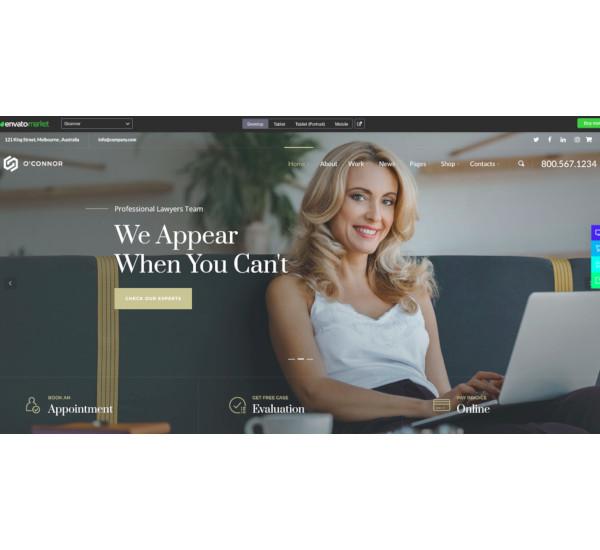 lawyers attorneys firm wordpress theme