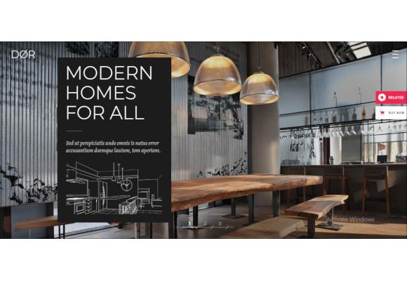 modern architecture and interior design theme