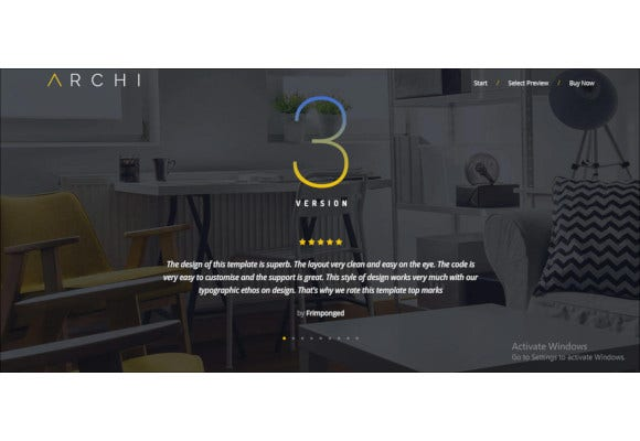 modern interior design website template