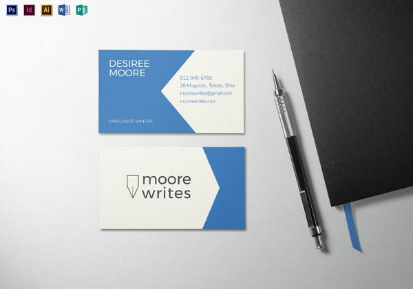 modern minimal business card template