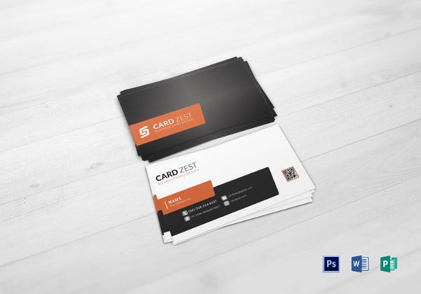multi purpose business card in word