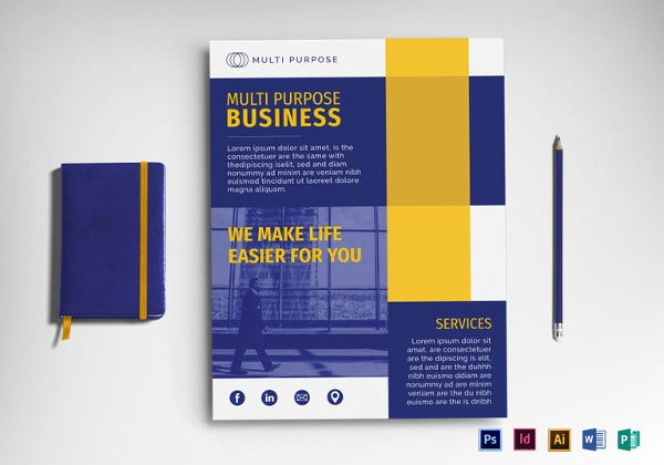 multi purpose business flyer template to print