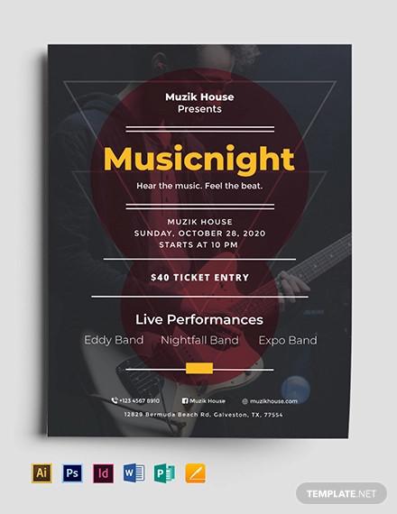 music flyer template1