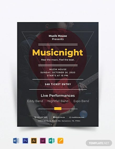 music flyer template2