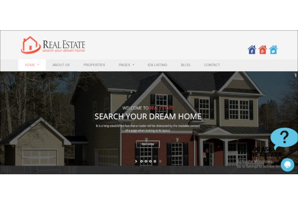 nice looking real estate wordpress theme