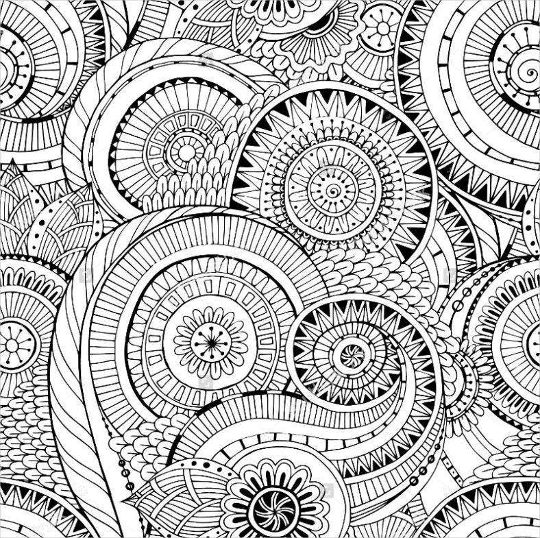 ornate zentangle pattern 788x785