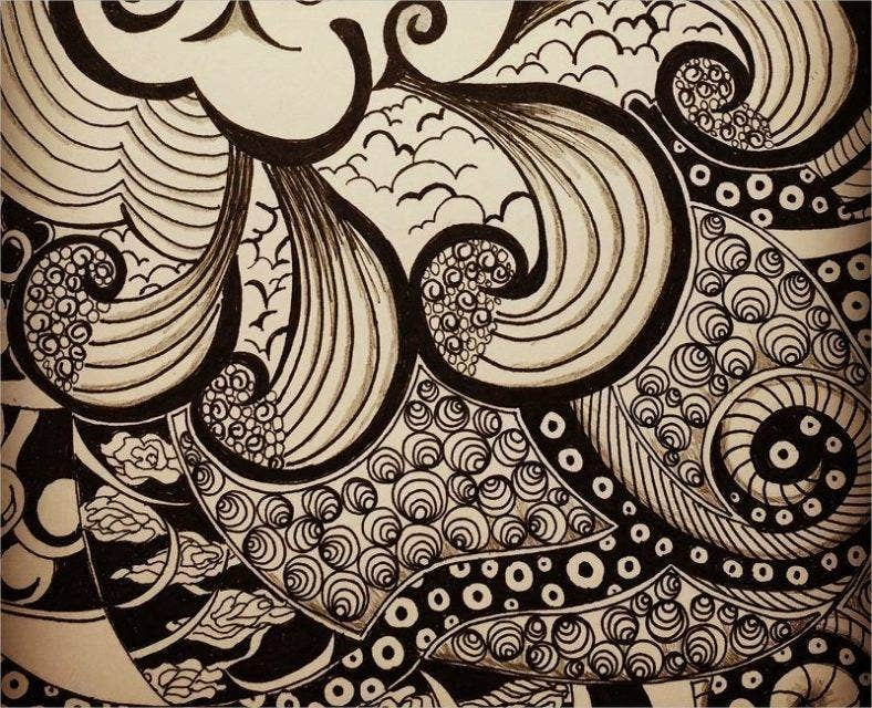 pattern drawing with zentangle 788x640