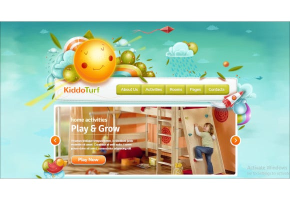 petty kids wordpress theme