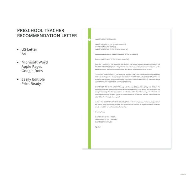preschool-teacher-recommendation-letter-template