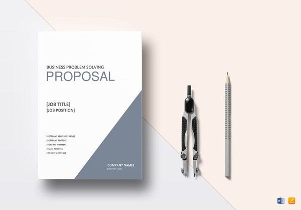 printable business problem solving proposal template
