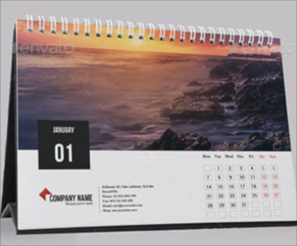 printable desk calendar template1