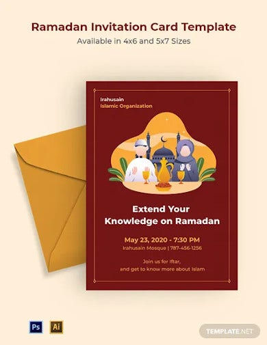 ramadan invitation card template