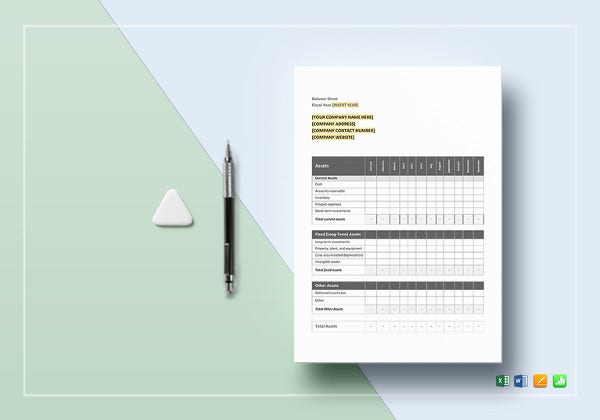sample-monthly-balance-sheet-template