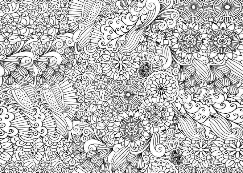 21 Zentangle Patterns PSD AI EPS Free Premium