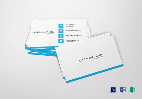 25 free business cards psd vector eps png format download simple business card word template cheaphphosting Images