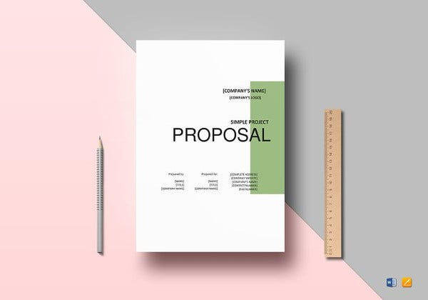 simple project proposal template in word