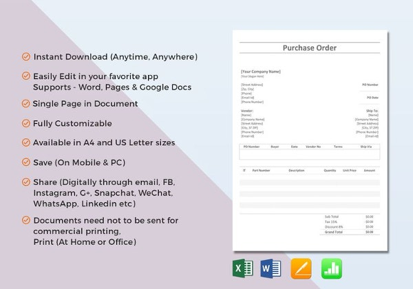 Excel Order Form Template Free Excel Documents Download Free - Invoice format excel free download online hockey stores
