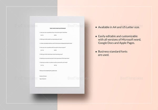 trade-show-exhibit-questionnaire-template