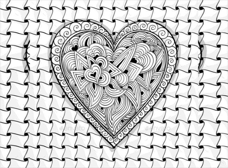 Heartbeat Pattern Heartbeat Vector Pattern Vector: 21+ Zentangle Patterns - PSD, AI, EPS