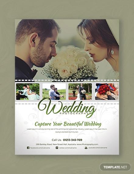 wedding photography flyer template1