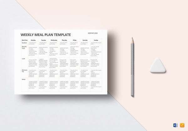 Weekly Meal Planner   Free Pdf Psd Documents Download  Free
