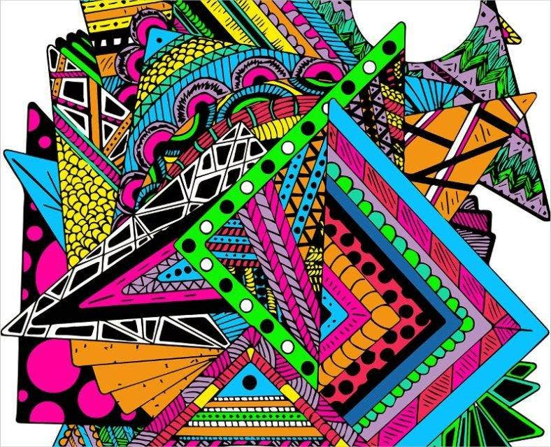 zentangle digital pattern 788x640