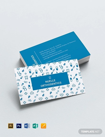 creative dentist business card