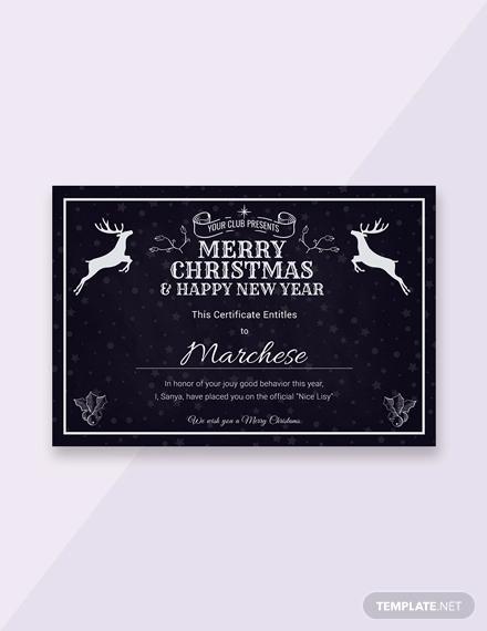 free chalkboard christmas gift