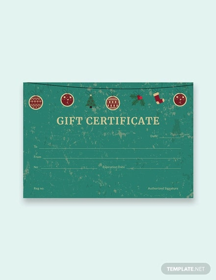 free creative christmas gift certificate