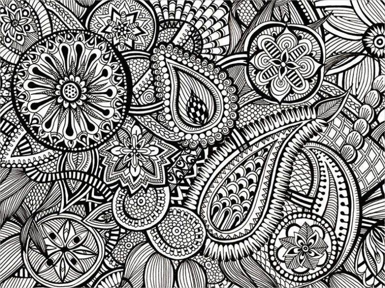 zentangle paisley pattern 788x591