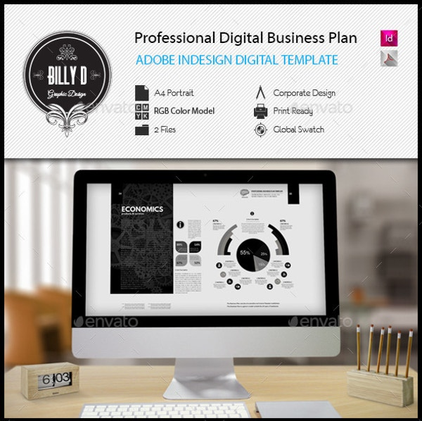 20 business plan templates free premium templates professional digital business plan template flashek Image collections