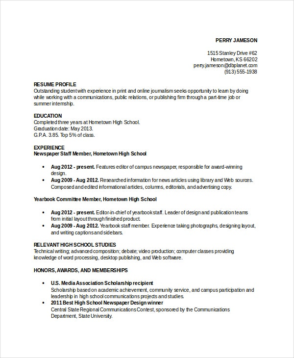 resume template word 10 free word documents