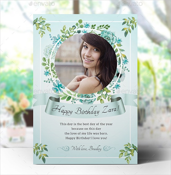 6 Birthday Card Templates: 26+ Printable Birthday Cards
