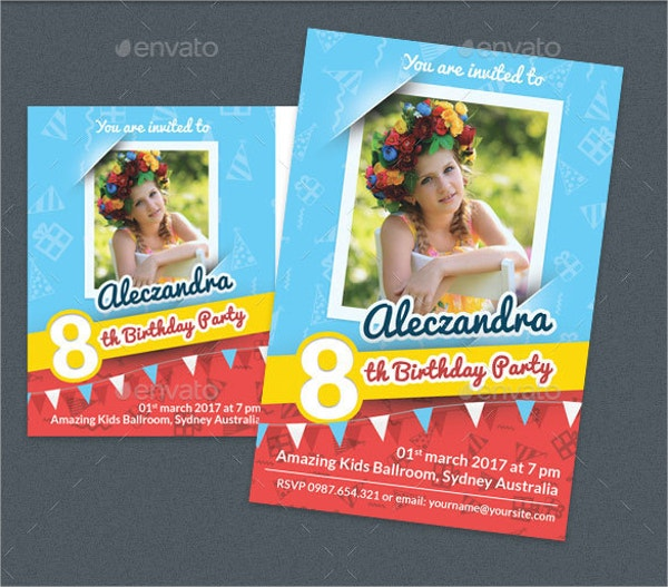 Printable Birthday Post Card and Invitation Card