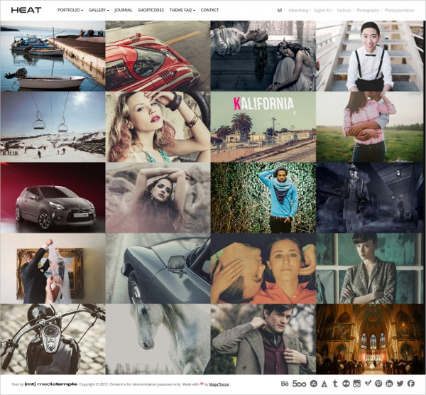 Portfolio WordPress Theme for Photographers, Graphic Designers $44
