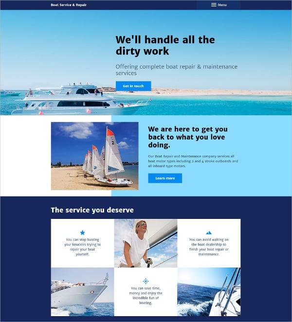 Premium Boat Service Portfolio Repair Joomla Website Template $75