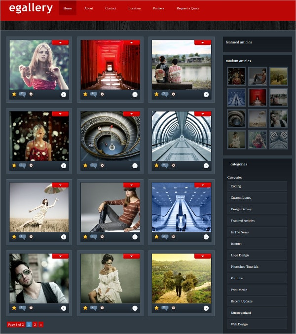 Gallery Portfolio WordPress Website Theme