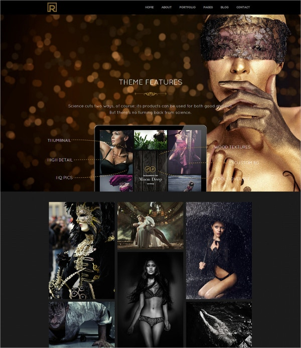 Responsive Timeline Portfolio HTML5 Website Theme $17