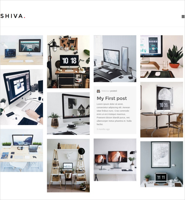 Minimalist Photography WP Portfolio & Blog Website Theme $15